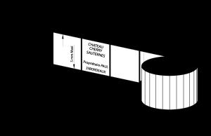 Etiketten für Weinabfüllung/ Details